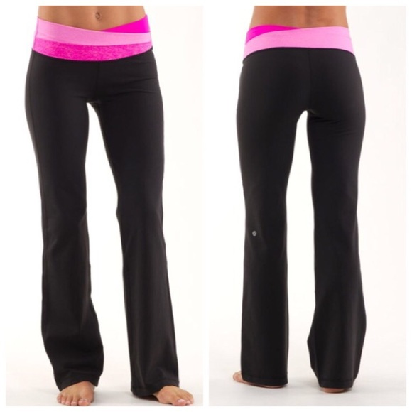 6550a65f9 lululemon athletica Pants - Lululemon Astro Pant Pink Black Yoga Tall